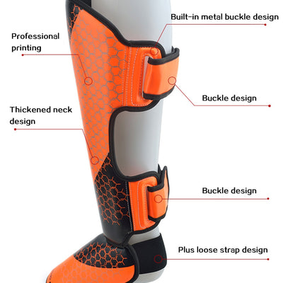1 Pair MMA Boxing Shin Guards Ankle Support - Mens Trendzz