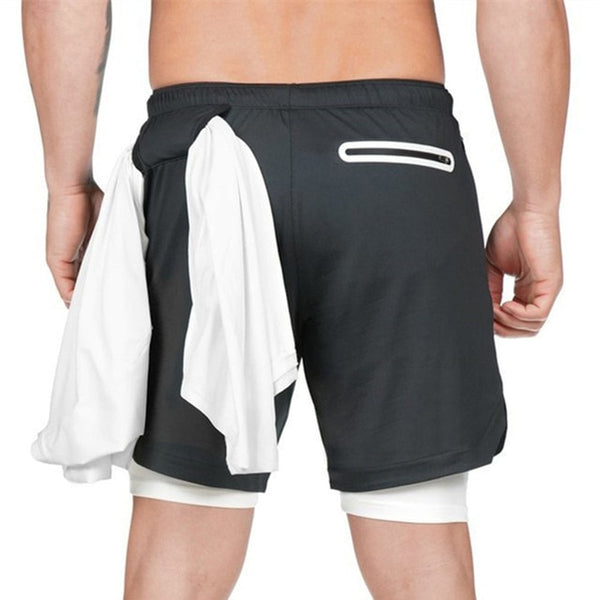 """AZAZEL"" 2 in 1 Running Shorts - Mens Trendzz"