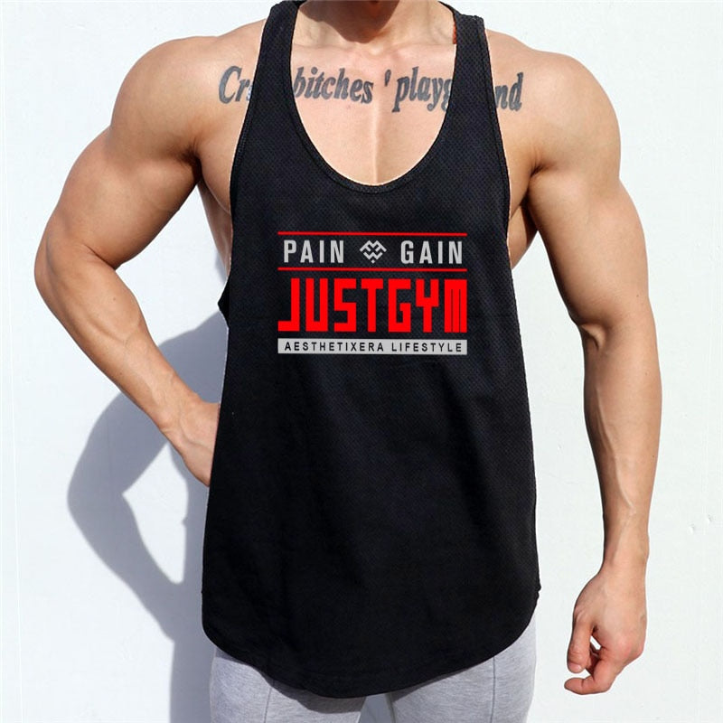 Pain And Gain Tank Top - Mens Trendzz