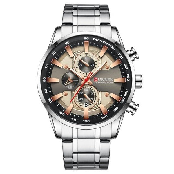 Silver Skeleton Stainless Watch - Mens Trendzz