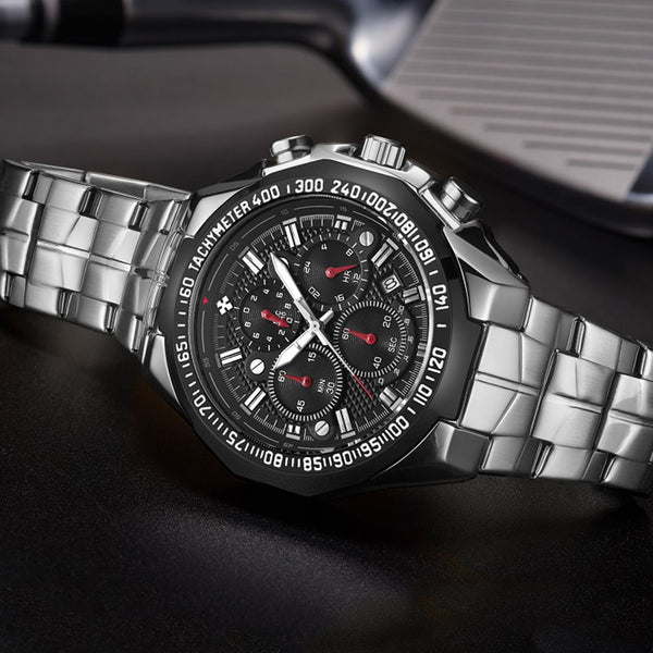 Stainless Steel Sport Watch - Mens Trendzz