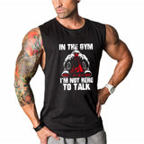 I'm Not Here To Talk Tank Top - Mens Trendzz