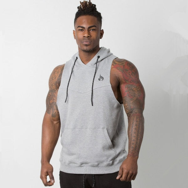 """CURT"" Hooded Vest - Mens Trendzz"
