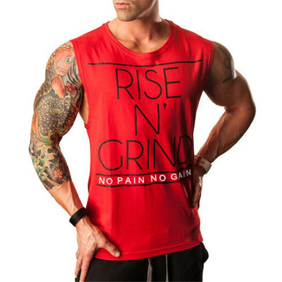 RISE AND GRIND Tank Top - Mens Trendzz