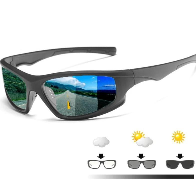 Polarized Sunglasses Transition Lens UV400 Anti-Glare