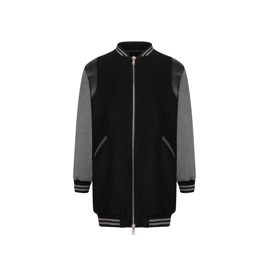 CEKETTE:COLLEGE JACKET,S/M / BLACK