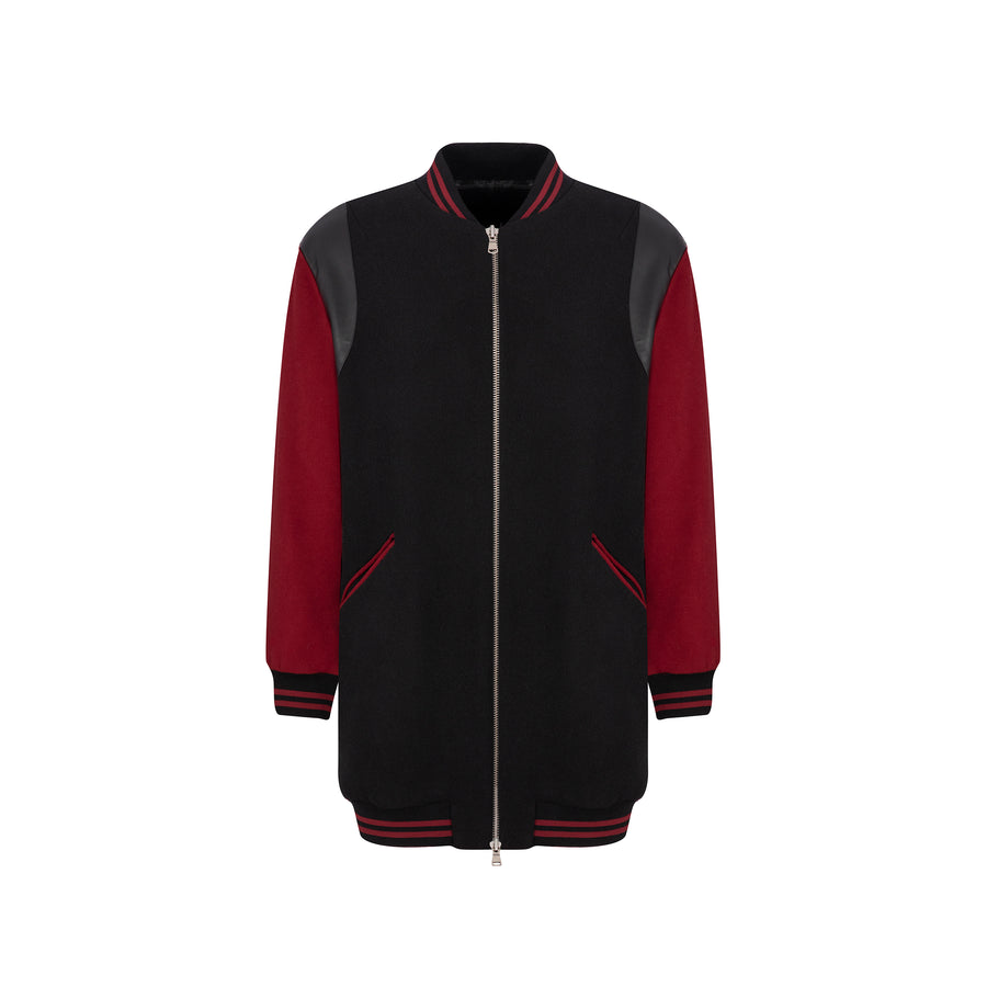 CEKETTE:COLLEGE JACKET,S/M / DARK RED