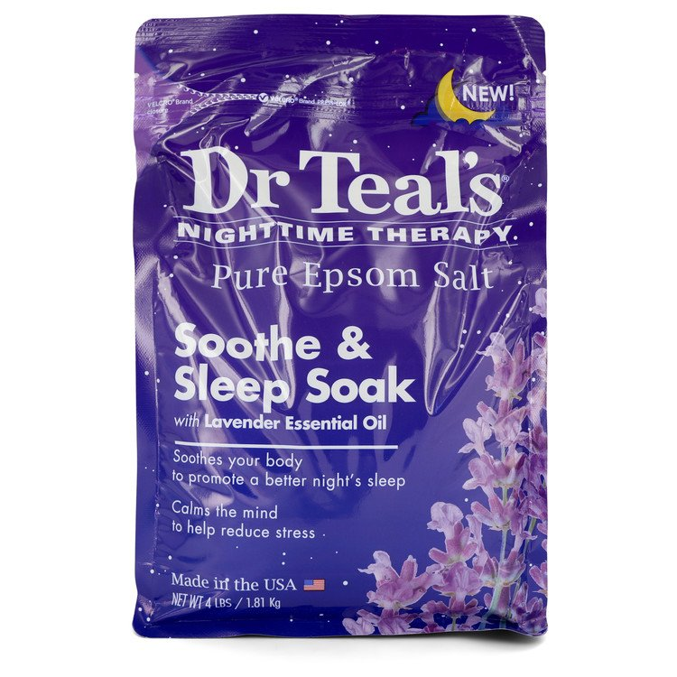 Dr Teal's Nighttime Therapy Pure Epsom Salt Sooth & Sleep Soak with Lavender Essential Oil By Dr Teal's