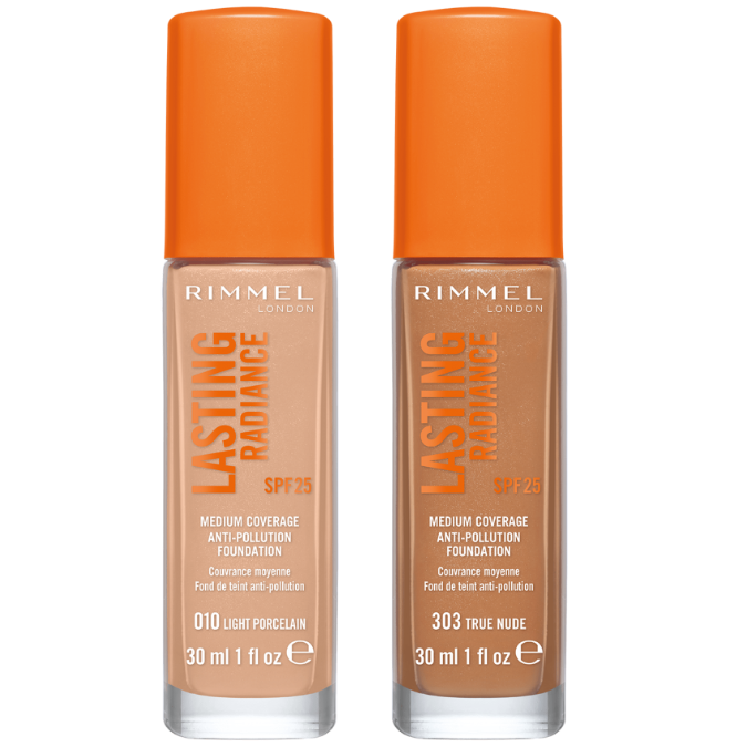 Rimmel Lasting Radiance Foundation - CHOICE OF SHADES