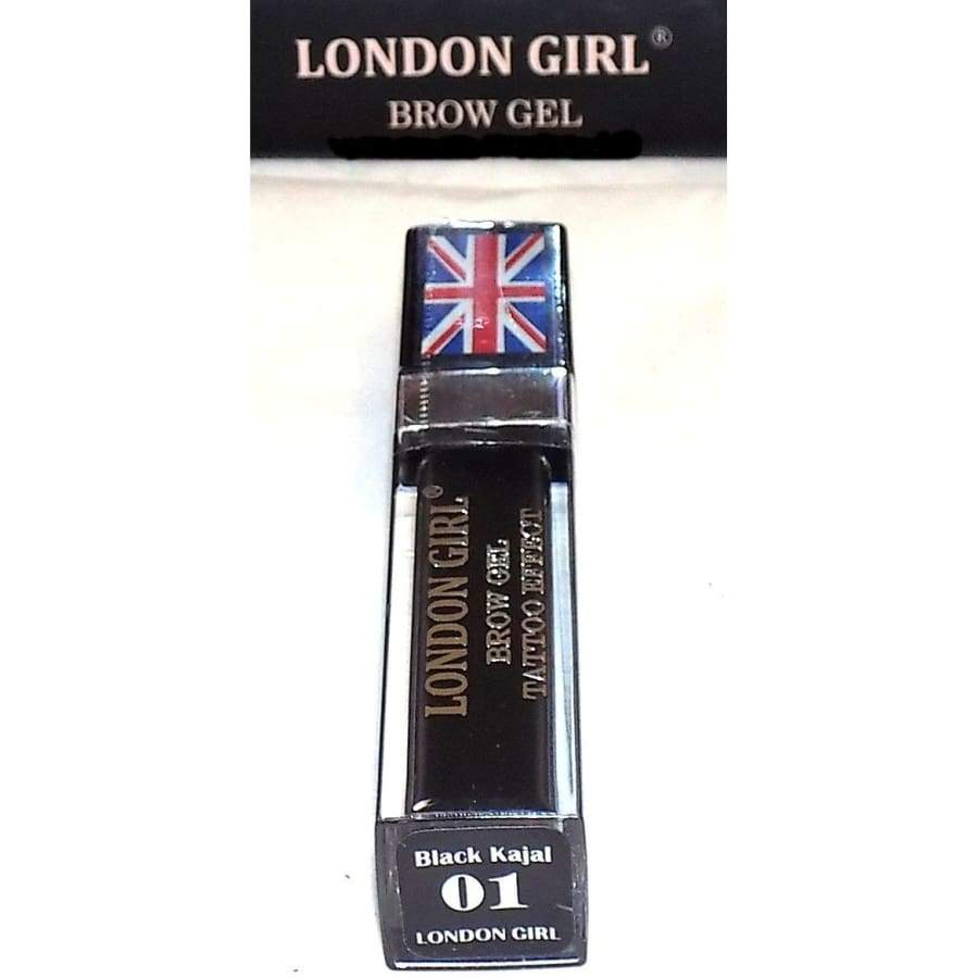 London Girl Brow Gel Tattoo Effect - 01 Black Kajal - Eyebrow Pencil