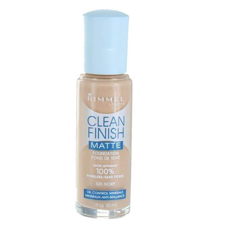 Rimmel Clean Finish Matte Foundation - 120 IVORY - Foundation/Powder