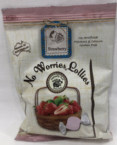 No Worries Lollies Strawberry Bag