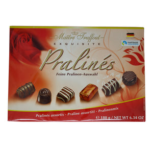 Maitre Truffout Pralines (Red or White 180g Box)
