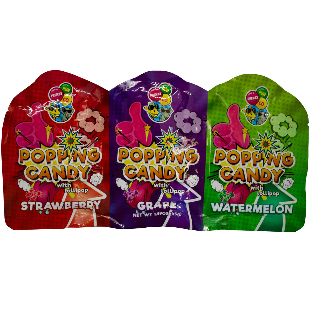 Popping Candy with Lollypop - 3 Pack