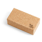 yogi bato yoga block made of natural cork from Portugal lying on the larger side