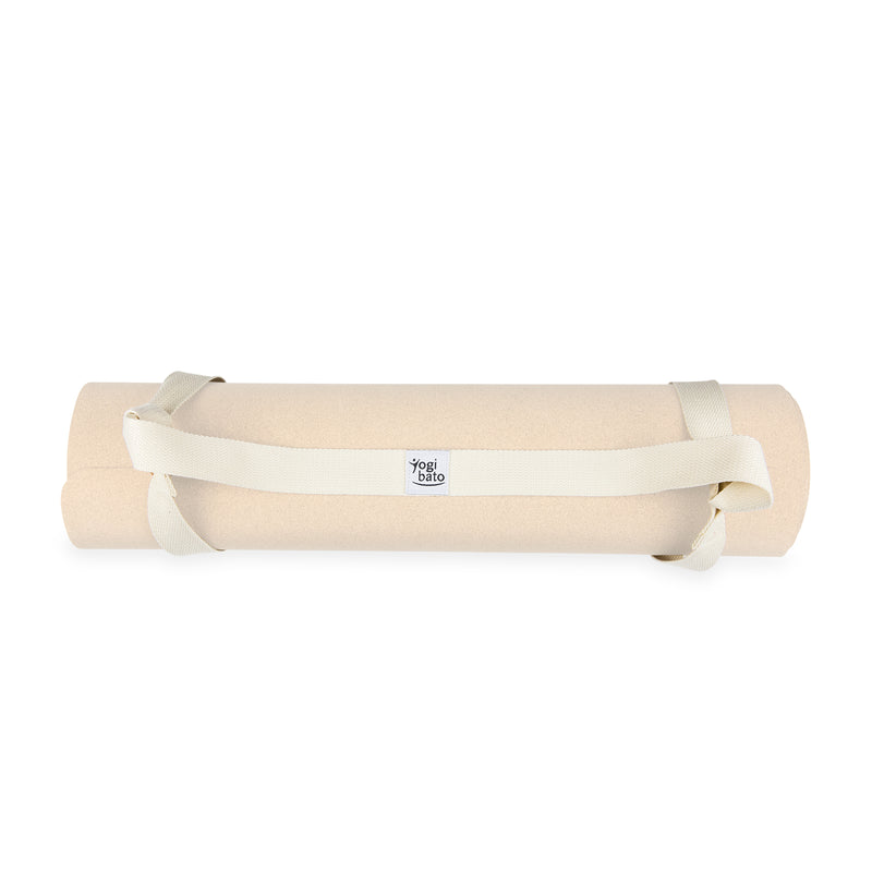 Yogibato yoga mat carrying strap in beige