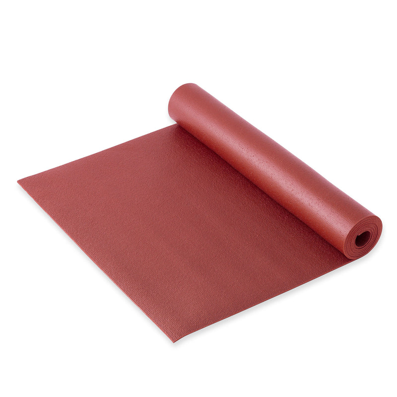 Yogibato Yoga Mat Studio on the floor with non-slip texture made from PVC in Germany and oeko tex certificate in color Bordeaux