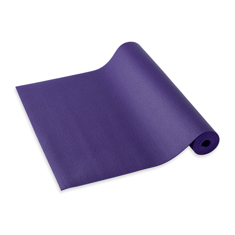 Yogibato Yoga Mat Studio partially rolled with extra grip structure made in Germany and oeko tex certificate in color Lavender