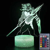 Aquaman 3D LED colourful night light. - Adilsons