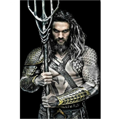 Aquaman 5D diamond mosaic wall art. - Adilsons