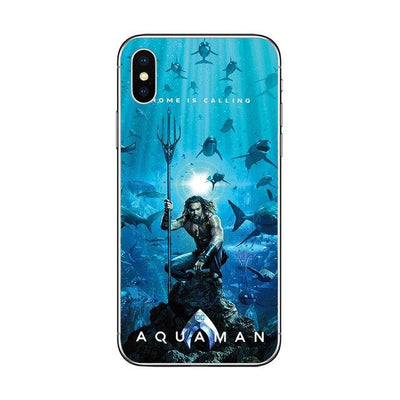 Aquaman soft phone cases for iPhone. - Adilsons