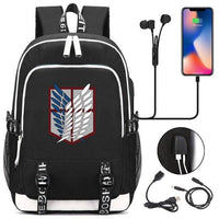 Attack On Titan: backpack with USB port. - Adilsons