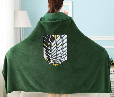 Attack on Titan hoodie cloak blanket - Adilsons
