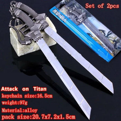 Attack On Titan Set of 2 pcs keychain-weapon. - Adilsons