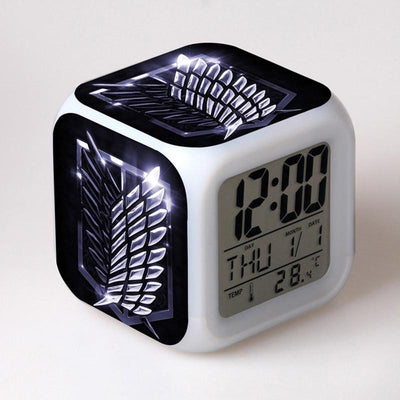 Attack On Titan Table decorations led alarm clock - Adilsons