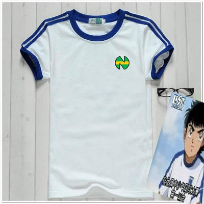 Captain Tsubasa uniform cotton T-shirt. - Adilsons