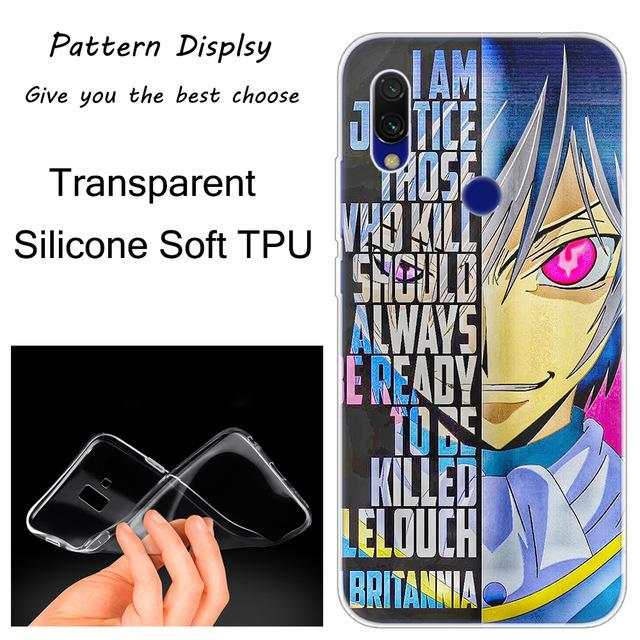 Code Geass Lelouch Hot soft silicone case for Xiaomi Redmi. - Adilsons