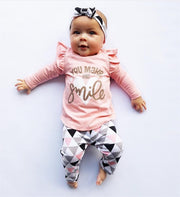 Cotton girls clothing suit 3Pcs set. - Adilsons