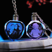 Custom crystal key chain personalized photo pendant. - Adilsons