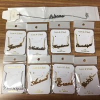 Customized fashion stainless steel name necklace pendant. - Adilsons