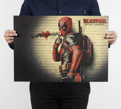 Deadpool poster for wall. - Adilsons
