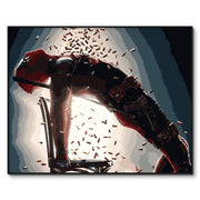 Deadpool poster oil painting. - Adilsons
