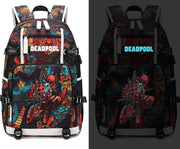 Deadpool USB luminous backpack. - Adilsons