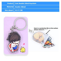Death Note acrylic double-sided keychains. - Adilsons