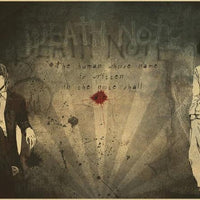 Death Note paper poster decoration wall. - Adilsons