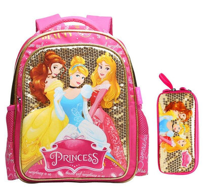 Disney Princess backpack and pencil. - Adilsons