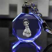 Disney Princess crystal LED Illuminate keychain. - Adilsons