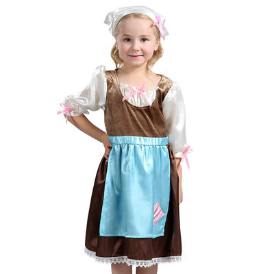 Disney Princesses child Cinderella costume with head scarf. - Adilsons