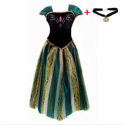 Disney Princesses Elsa and Anna costume dress + necklace. - Adilsons