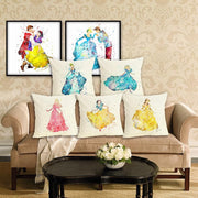 Disney Princesses home decor pillow case 45x45cm. - Adilsons