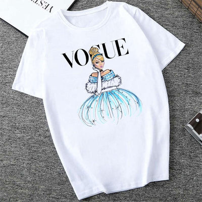 Disney Princesses summer short sleeve T-Shirts. - Adilsons