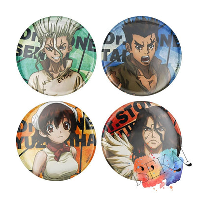 Dr. Stone Anime brooches. - Adilsons