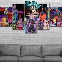 Dragon Ball Super Broly movie characters Wall Art 5pcs - Adilsons