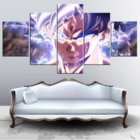 Dragon Ball Super Goku First UI Wall Art 5 pcs - Adilsons