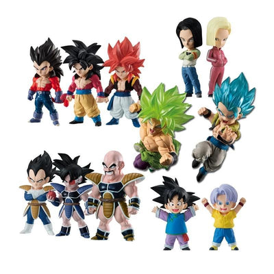 Dragon Ball Vegeta SSJ4 - Goku SSJ4 - Kid Trunks and Goten Figurine - Adilsons