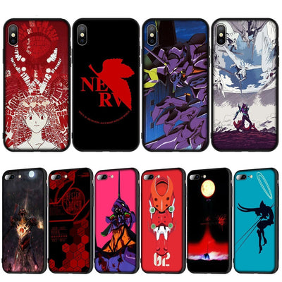Evangelion Anime soft silicone case for iPhone. - Adilsons